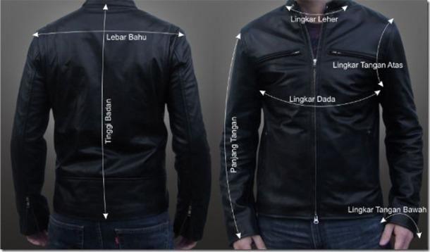 ukuran jaket kulit